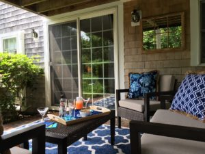 private outdoor patio at Candleberry Inn