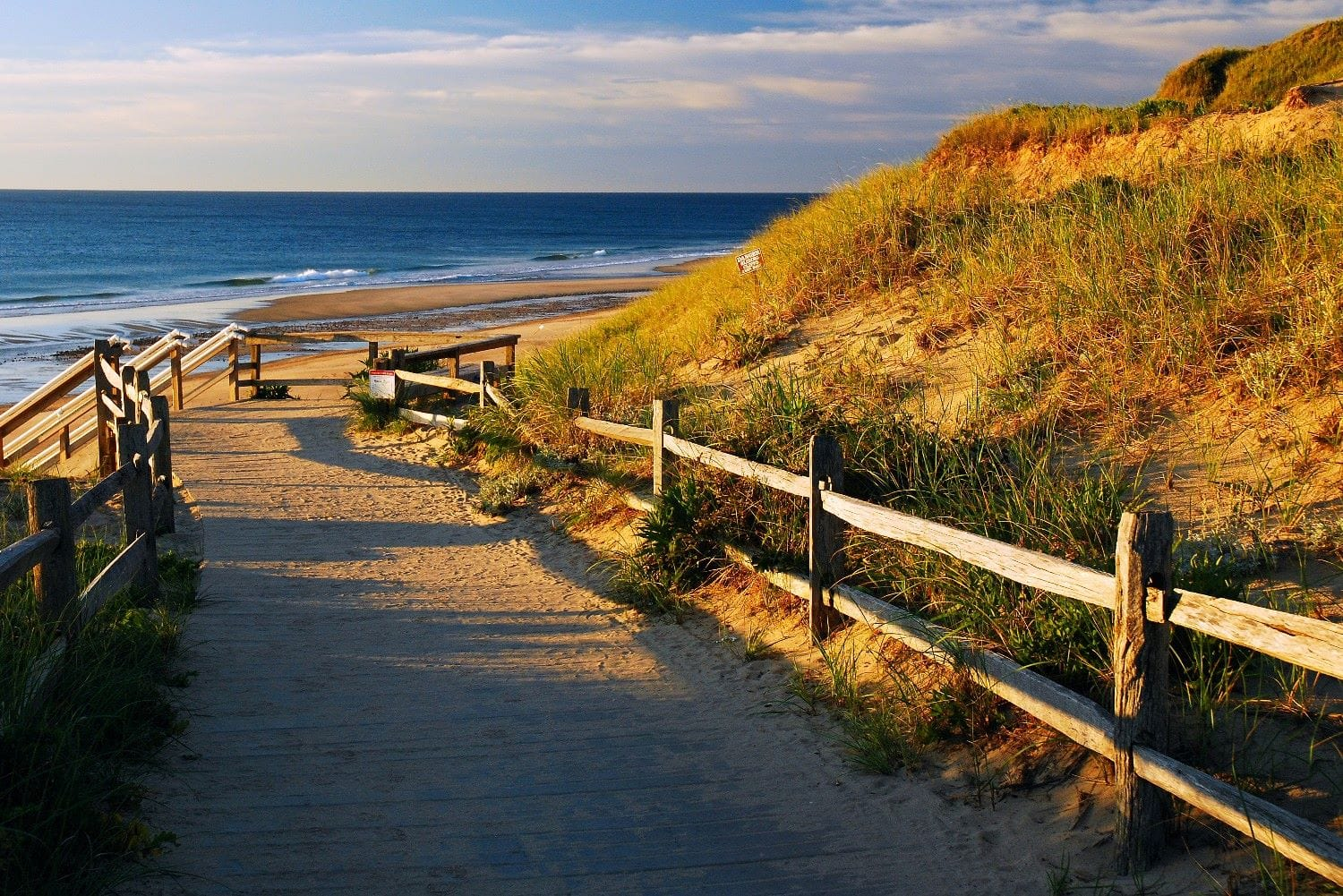 Beach path on Cape Cod.