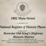 certificate of National Register of Historic Places