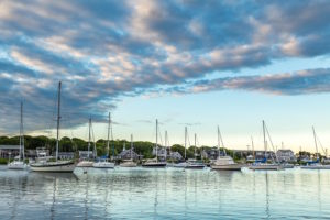 Boats on Falmouth Harbor, Cape Cod.