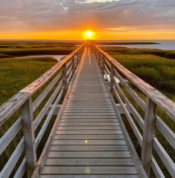Grays Beach Boardwalk - one of the best places on Cape Cod for photos