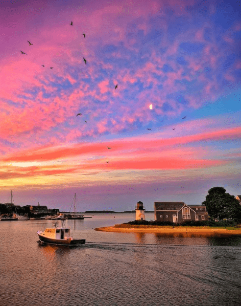 Hyannis Inner Harbor - one of the most Instagrammable places on Cape Cod