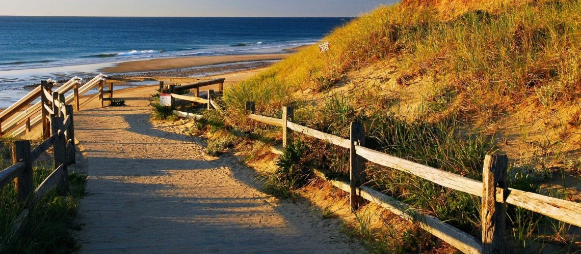 Beach path on Cape Cod.